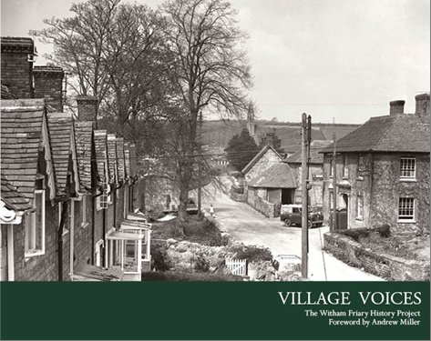 A picture of the front cover of the Village Voices book